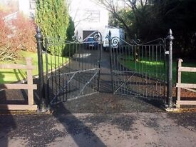 Victorian Cast Iron Gates & Posts (open to offers)