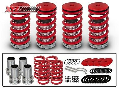 01 Lowering Spring Kit - JDM RED Lowering Adjustable Coilover Coil Springs Kit For 92-00 Civic EG EK