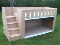 BUNK BED MID SLEEPER FREE DELIVERY IN UK ALL 18MM SOLID AND SAFE ONLY £168