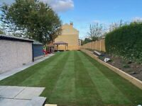 Landscaping patio fencing gravel drives turf Astro turf aggregates