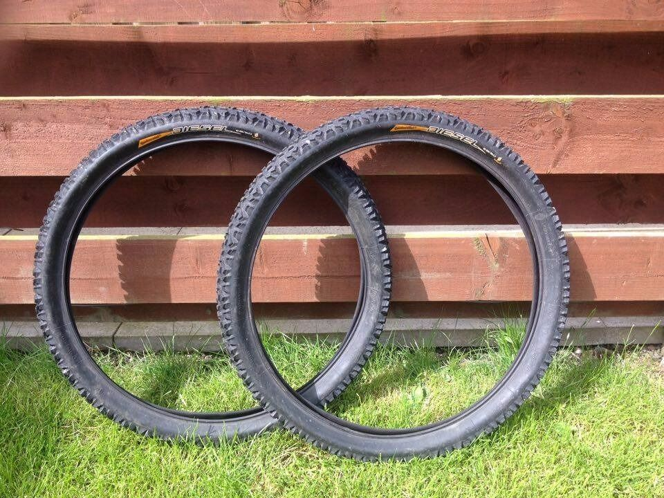"""Continental Diesel 26x2.5in Montrose, AngusGumtree - Hi, here are for sell two Continental Diesel tyres in size 26""""x2.5 Both tyres are in great condition with 90% life left. Text only please"""