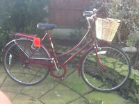 Ladies Vintage dutch bike RALEIGH CAMEO 3 speed , frame size 20 ready to go VERY GOOD CONDITION