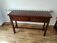 CAN DELIVER - SOLID MAHOGANY HALL TABLE IN VERY GOOD CONDITION