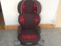 Pthickly padded Graco Group 2 3 full highback 2piece booster car seat for 15kg upto 36kg(4yrs-12yrs