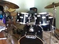 Black Thomann Exclusive Mapex Drum Kit Limited Edition