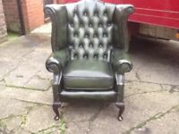 LEATHER CHESTERFIELD SUITE WANTED SINGLE CHAIRS OR FULL SETS CAN COLLECT ANY COLOUR ANY CONDITION