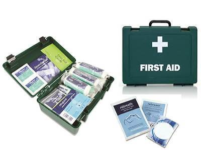 1 - 10 Person HSE Workplace Home First Aid Kit - FREE CPR Faceshield **OFFER**