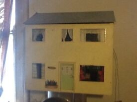 Dolls house with electric lights