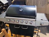 Premium 6 Burner Gas BBQ with Side Burner