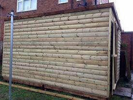Log lap shed