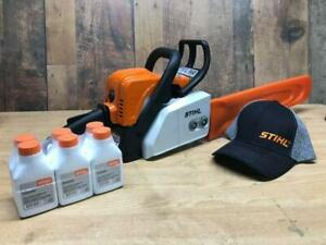 Get yourself a deal on a NEW STIHL MS170 Chainsaw! AND get a FREE 6 pack of oil and a FREE spare chain!Get yours today!