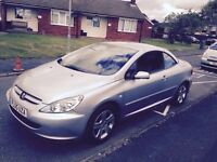 CHEAP Peugeot 307cc Convertible. ONLY 93,000 miles. Part service history. ONLY £1550
