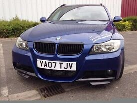 2007 BMW 330D M SPORT MANUAL TOURING, LE MANS BLUE, STAGE 2, 304 BHP, STUNNING