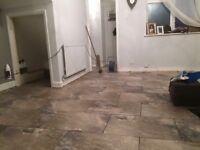 Key stone floor tiles