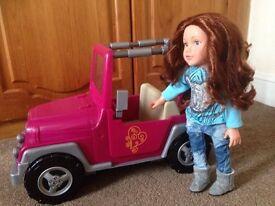 Our Generation Jeep /design a friend jeep ,designa friend. can also post