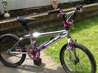 Rooster chrome bmx stunt bike ( excellent condition )
