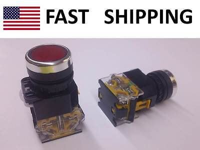 Momentary Heavy Duty Push Button Switch - Dpst - Start Stop Industrial Sw