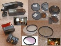 SLR film camera accessories ~ Contax ~ Hoya ~ itorex ~ Rexar ~ Quality photo gear package