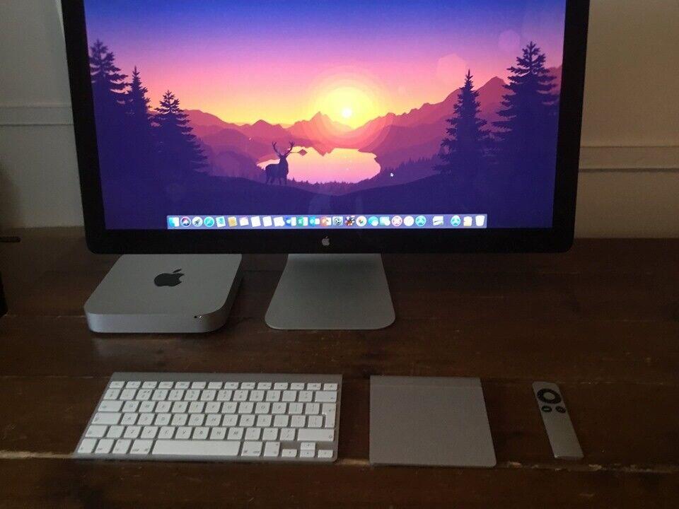 Mac Mini 2 3 i7- 16GB Ram- 512GB SSD+120GB SSD- 27