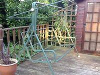 Garden lounger swing