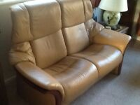 Stressless. Armchairs. & Settee. With 2 Footstools.