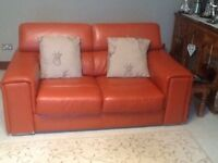 Designer Room Italyian Leather Couches