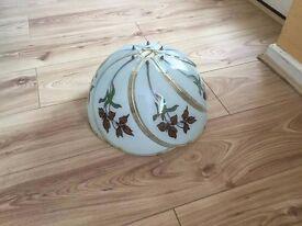 Decorative glass lampshades