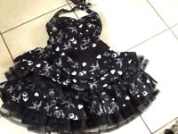 Black short party dance or dress up,