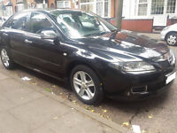 Mazda 6 2006 (55) reg 1.8 petrol Black with chrome mirrors and handles . Good Runner!