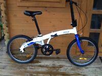 """BTWIN B Fold 300. Folding bike. 20"""" wheels. Single speed Fully working"""