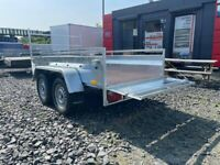 BRAND NEW MODEL 8.2 X 4.3 DOUBLE AXLE MASTER BRAKED TRAILER WITH A LADDER RACK 1300KG