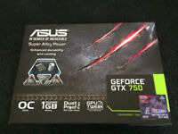 ASUS NVIDIA GTX 750 OC 1GB **BOXED WITH GPU TWEAK CD**
