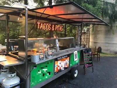 Well Equipped 2016 3.5 X 8.5 Food Vending Cart Used Mobile Food Unit For Sal