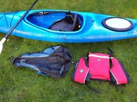 """10' 6"""" Dagger Blackwater Kayak w/ buoyancy aid, spray deck and paddle - £400 - Pick up only"""