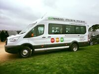 MINIBUS HIRE WITH DRIVER - 8 TO 70 Seaters TEL 07555 200747 - QUICK QUOTES, SUPERB CUSTOMER FEEDBACK