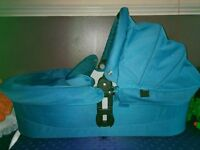 Icandy cherry blue pushchair carry cot