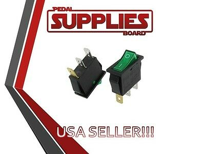 Ac 250v 15a 20a Green Illuminated Onoff 2 Position Rocker Switch 3 Pin Kcd3