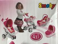 💗💗💗Smoby Maxi-Cosi Quinny 4x1 Doll Pram, Pushchair, Car Seat, Carrycot, Buggy MOSTLY BNIB