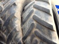 TRACTOR TYRES 580/70/38 MICHELIN OMNIBIBS RADIALS WITH 30% TREAD £300 FOR BOTH TYRES