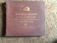 Old book of 9 records ,His masters voice £40