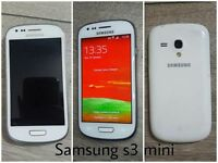 Samsung s3 mini mobile phone