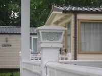 """IDEAL FOR STATIC CARAVAN DECKING , GLASS SOLAR DECKING LIGHTS, WILL FIT A 5"""" OR 4"""" POST"""