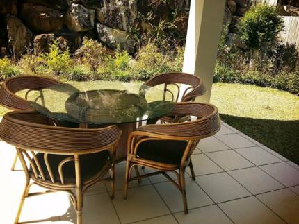 PENDING SALE outdoor dining table and chairs