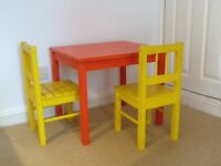 Childrens IKEA table and chairs
