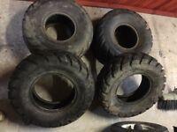 Set of e marked duro quad tyres