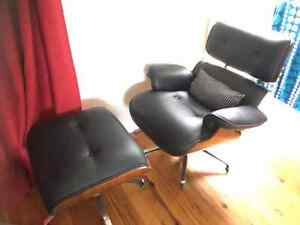 Black leather chair Muswellbrook Muswellbrook Area Preview