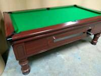 Supreme 7x4 Slate Bed Pub Pool Table. New Recover & Accessories. Free Local Delivery