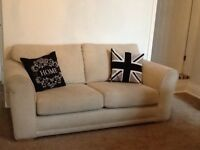 Next 2 seater cream settee - excellent condition, 18 months old and hardly sat on.