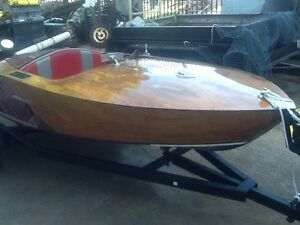Rare Huon pine jetboat Burleigh Heads Gold Coast South Preview