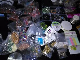 loads of beads, necklace making,accesories, coil, string and tools